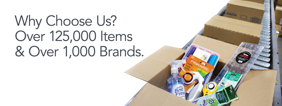 Why choose us? Over 1,000 brands and 120,000 products.