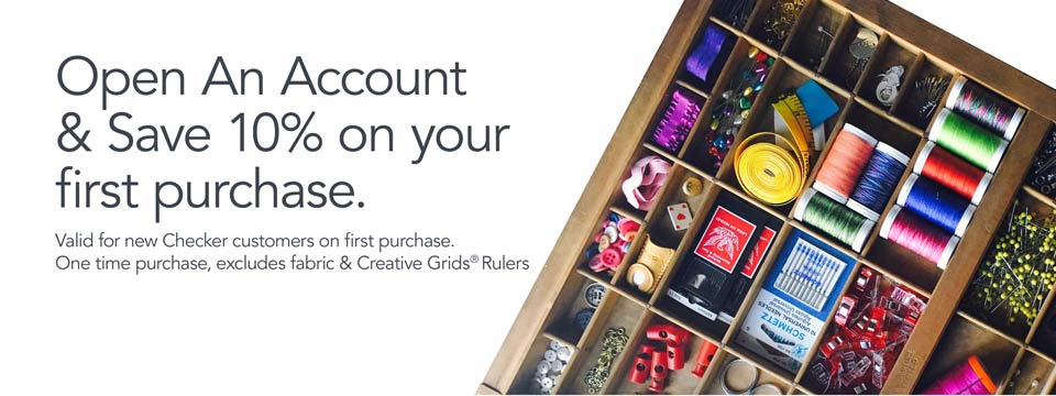 Open an account and save 10% on your first purchase.